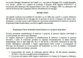 AVVISO PER L'ASSEGNAZIONE DI AREE COPERTE E SCOPERTE